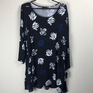 NWT Alfani women's 3X floral print dress/tunic